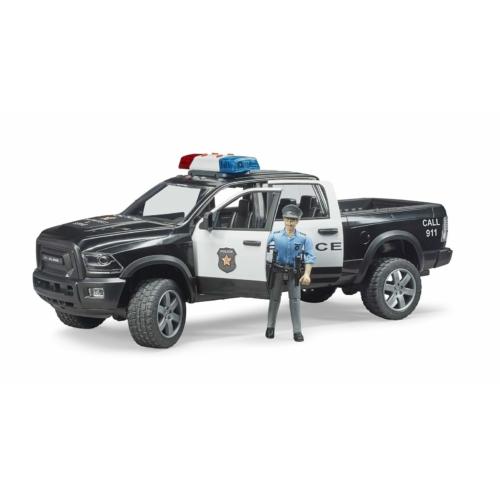 Kisautó rendőrségi terepjáró RAM játékfigurával műanyag Bruder 1:16