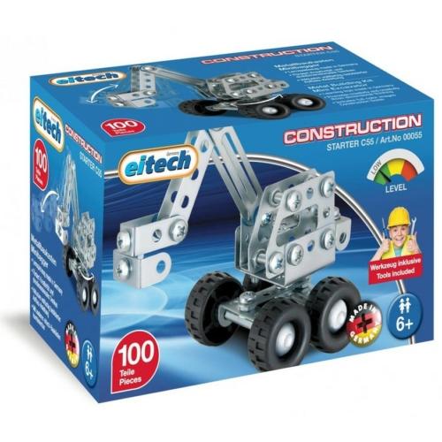 Kotrógép mini építőjáték 100 db-os szerszámokkal fém Eitech