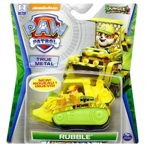 Mancs őrjárat fém autó Jungle Rescue Rubble járműve