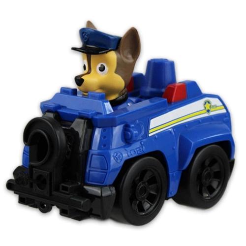 Mancs őrjárat jármű műanyag Chase kék rendőrautó visszahúzható csörlővel