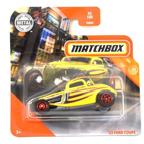 Matchbox fém kisautó '33 Ford Coupe sárga 95/100