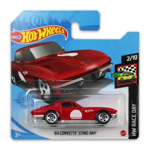 Mattel Hot Wheels fém kisautó '64 Corvette Sting Ray
