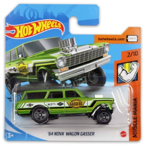 Mattel Hot Wheels fém kisautó '64 Nova Wagon Gasser