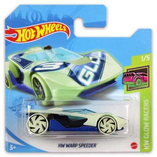 Mattel Hot Wheels fém kisautó HW Warp Speeder világít a sötétben