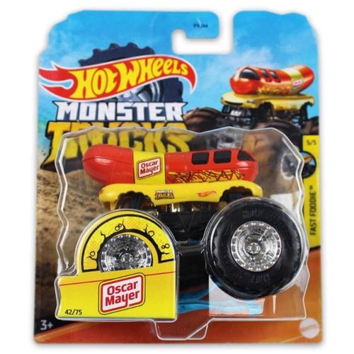 Monster Trucks Ocar Mayer kisautó műanyag hot dog Hot Wheels