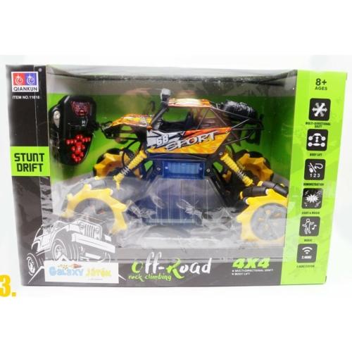 Oldalazó drift Buggy távirányítós terepjáró fekete és sárga R/C