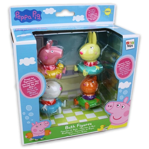 Peppa malac 4 db-os fürdőjáték szett Peppa és barátai