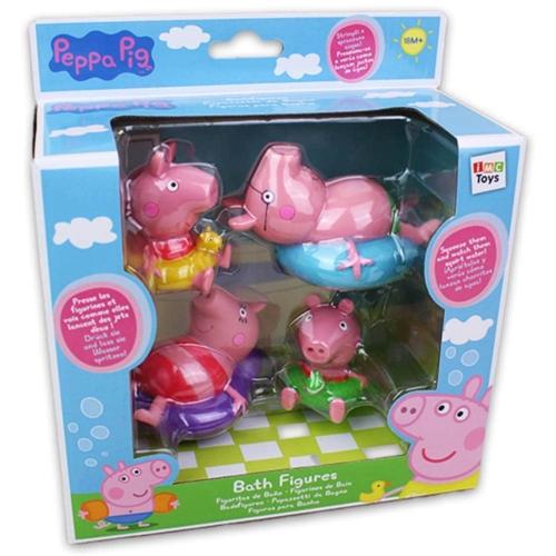 Peppa malac 4 db-os fürdőjáték szett Peppa és családja