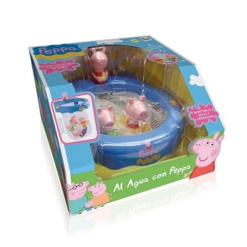 Peppa malac fürdőjáték hálóval és 2 figurával