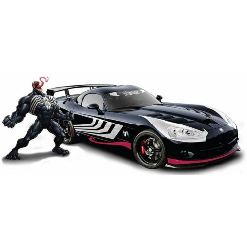 Pókember fém autó 2008 Dodge Viper Venom fém figurával 1:24