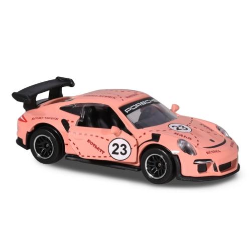 Majorette Porsche Prémium fém kisautó kártyával 911 GT3 RS mályva