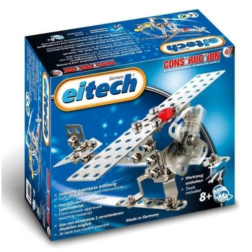 Repülő és helikopter építőjáték szerszámokkal fém Eitech