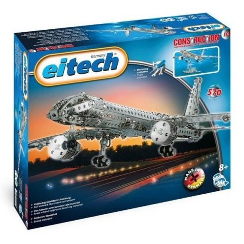 Repülőgép építőjáték 570 db-os szerszámokkal fém Eitech