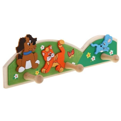 Ruhaakasztó állatos fa kutya, cica, egér Woody