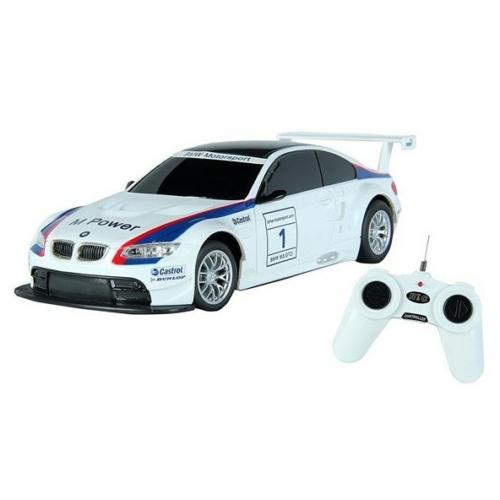 Távirányítós autó BMW M3 GT2 műanyag RC fehér