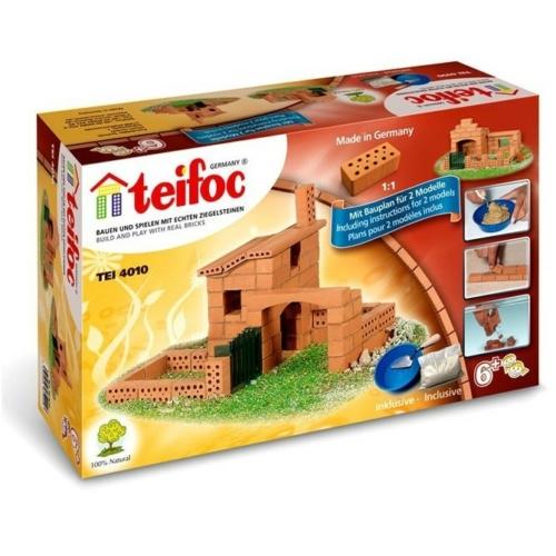 Tégla építőjáték ház szett 85 db-os kiegészítőkkel teifoc