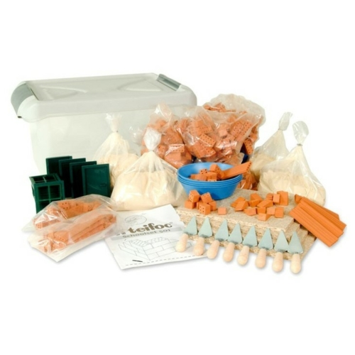 Tégla építőjáték óriás szett 320 db-os műanyag boxban kiegészítőkkel teifoc
