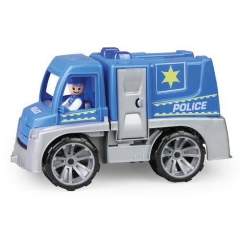 Truxx rendőrautó műanyag figurával és barikáddal