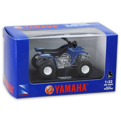 Yamaha Warrior kék fém quad műanyag borítással 1:32
