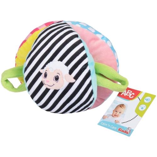 ABC Baby plüss labda csörgővel 16 cm