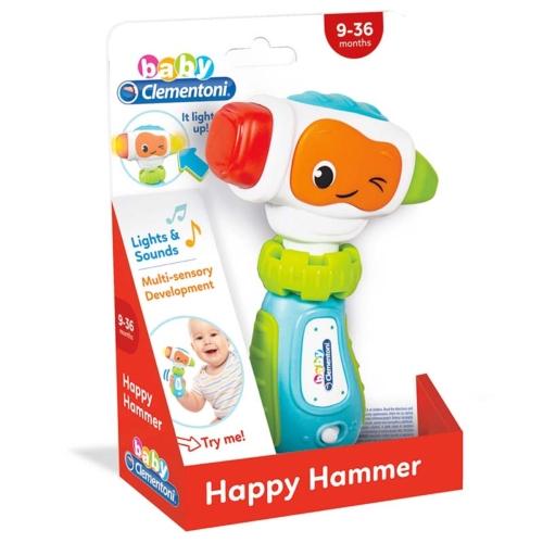 Clementoni Baby Happy Hammer interaktív kalapács hanggal és fénnyel műanyag