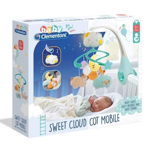 Clementoni Baby felhő kiságyforgó fénnyel és nyugtató hangokkal