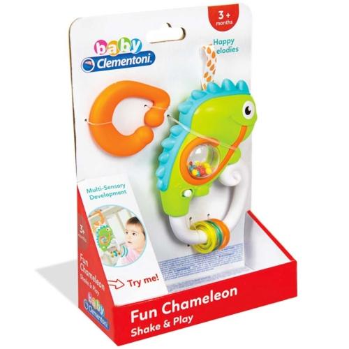 Clementoni Baby interaktív kaméleon csörgő műanyag 14 cm