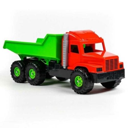 Dömper piros-zöld műanyag 75 cm