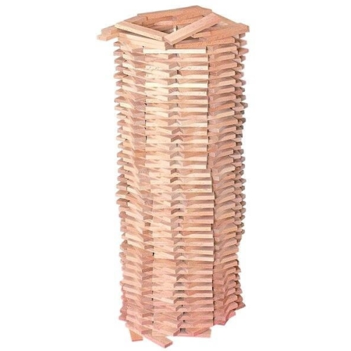 Építőjáték téglák natúr Karla fa szett 200 db-os Woody