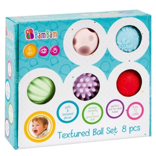 Érzékfejlesztő puha labdák 8 db-os készlet BamBam