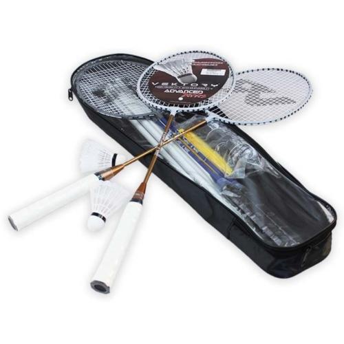 Fém tollaslabda készlet hálóval 4 db ütővel