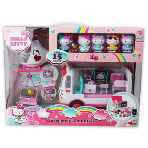 Hello Kitty sürgősségi játék szett figurákkal és kiegészítőkkel