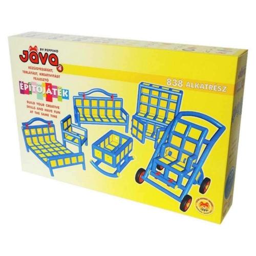 Jáva 3D építőjáték bútorok 838 db-os