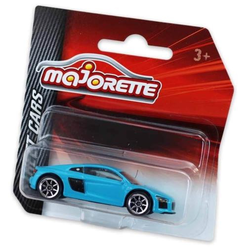 Majorette Audi R8 fém kisautó kék 1:64