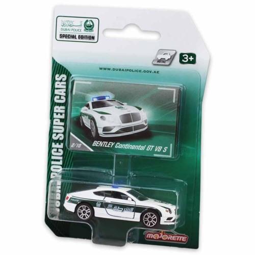 Majorette Dubai Police Bentley Continental GT V8 S fém kisautó fehér 1:64