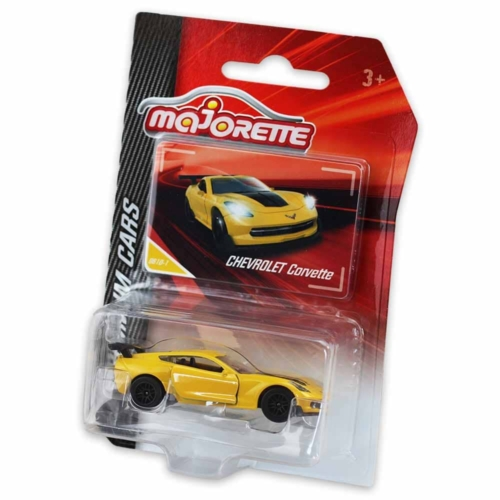 Majorette Chevrolet Corvette 961D-1 fém kisautó sárga 1:64