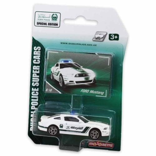 Majorette Dubai Police Ford Mustang Boss fém kisautó fehér 1:64