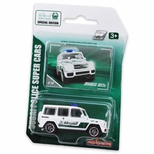Majorette Dubai Police Mercedes AMG Brabus B63s fém kisautó fehér 1:64