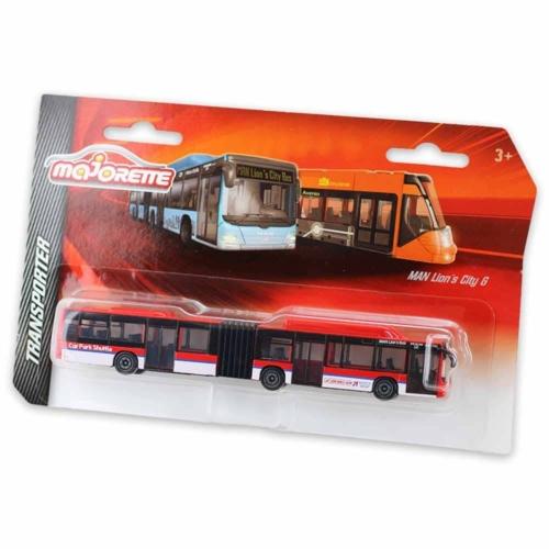 Majorette MAN Lion's City G fém busz piros 18,5 cm