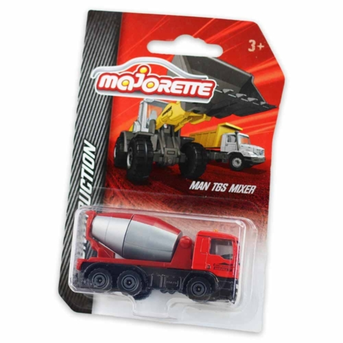 Majorette MAN TGS Mixer fém kisautó piros 1:64