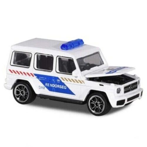 Majorette Mercedes-AMG G 63 fém rendőrautó fehér 1:64