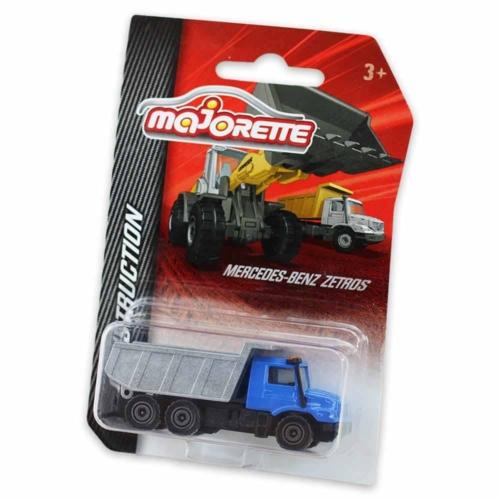 Majorette Mercedes-Benz Zetros fém kisautó szürke, kék 1:64