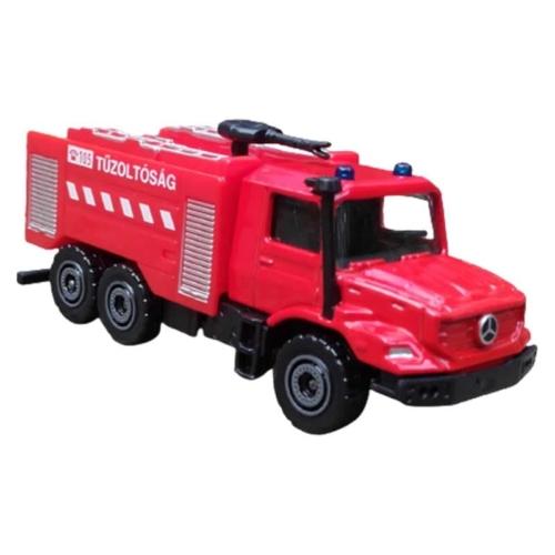 Majorette Mercedes-Benz Zetros fém tűzoltóautó piros 1:64