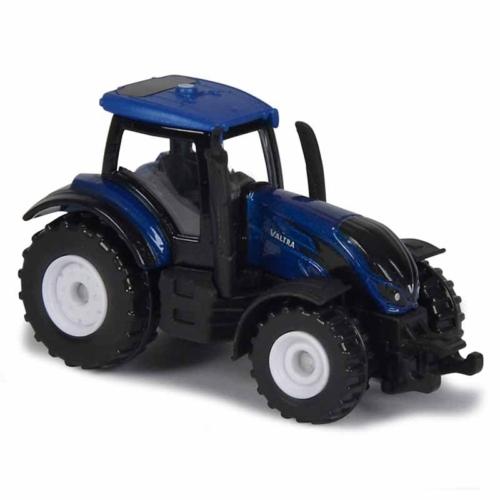 Majorette Valtra T4 fém traktor kék 1:64