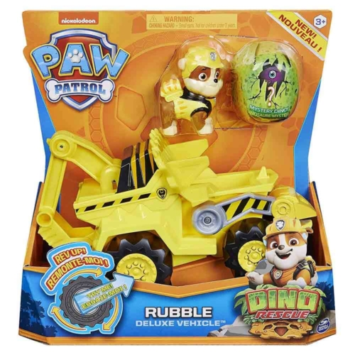 Mancs őrjárat Dino Rescue Rubble deluxe jármű figurával műanyag