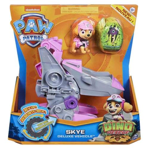 Mancs őrjárat Dino Rescue Skye deluxe jármű figurával műanyag