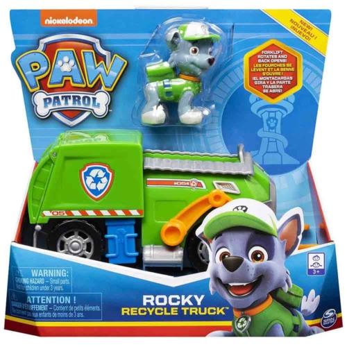 Mancs őrjárat Rocky újrahasznosító kamion figurával műanyag