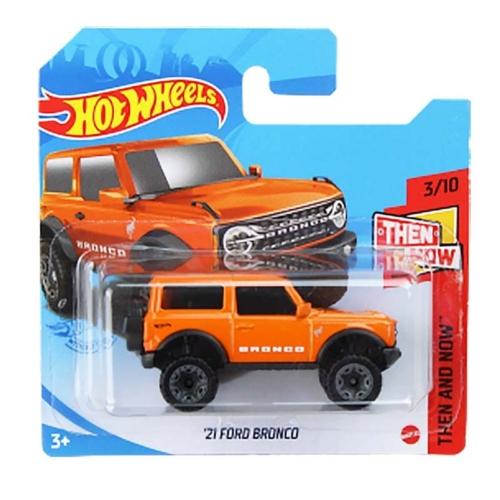 Mattel Hot Wheels fém kisautó '21 Ford Bronco narancssárga