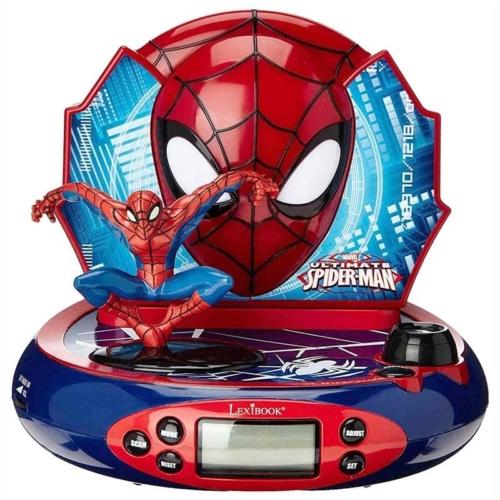Pókember 3D projektoros ébresztő óra és rádió szuperhős hangokkal