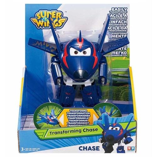 Super Wings Átalakuló repülő és robot Agent Chace műanyag 13 cm